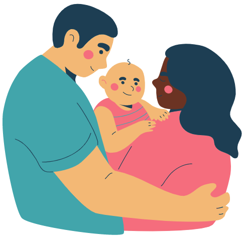 Parents with a child