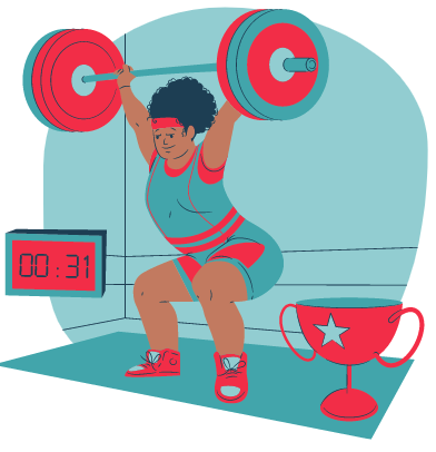 Woman lifting a heavy weight